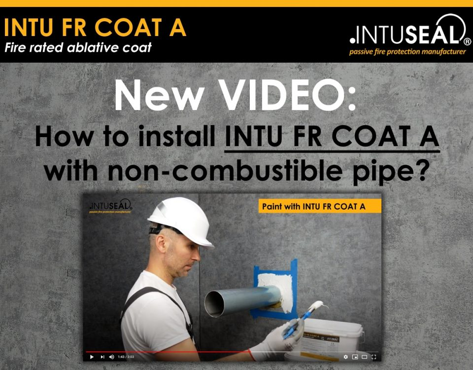 intu fr coat A on non-combustible pipe