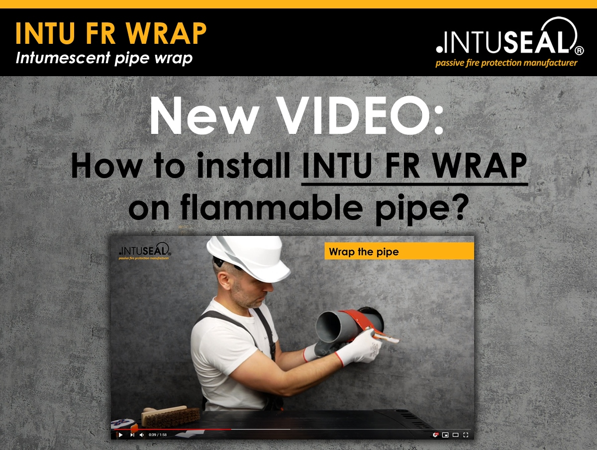 Video how to install INTU FR WRAP on flammable pipe?